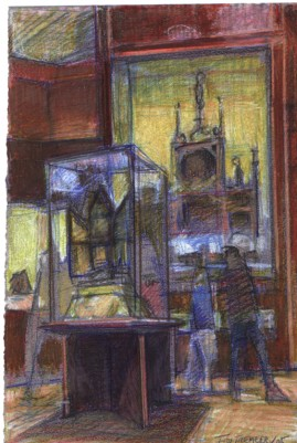ROM Visit coloured pencil 6 x 9 inches 2004