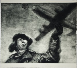 The Plane		scraped etching and aquatint (edition of 12 prints),   	 56 x 61 cm	2010