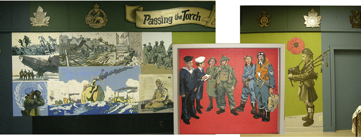 Mural by Todd Tremeer for the Royal Canadian Legion