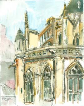 church beside pompidou