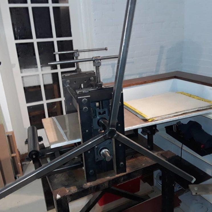Intaglio Etching Press, Homemade.