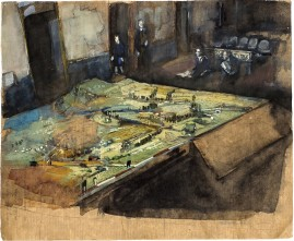The Model Watercolour & gouache on kraft paper 34 x 29 cm 2008 *