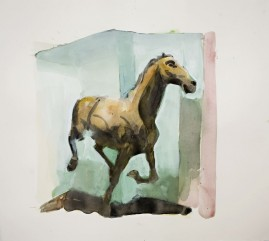 Running Horse watercolour 22 x 20 inches 2008