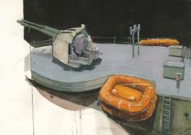 Gundeck watercolour and gouache 41 x 57 cm 2007