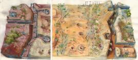 Both Sides watercolour & gouache 36 x 90 cm 2007