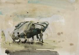 Tank watercolour, ink, gouache on paper 35 x 50 cm 2008