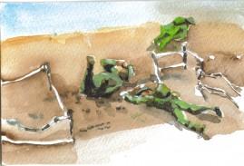 KIA watercolour postcard 10 x 15 cm 2008