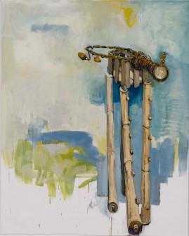 Construction #3 (Walker) oil, canvas 153 x 122 2006