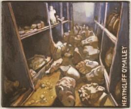 Fallen Heads, oil on wood, 10 x 14 cm, 2004.