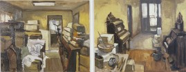 Museum Storage. oil on 2 wood panels, each 8 x 10 inches. 2005. *