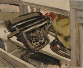 Typewriter oil on panel 20 x 25 2005