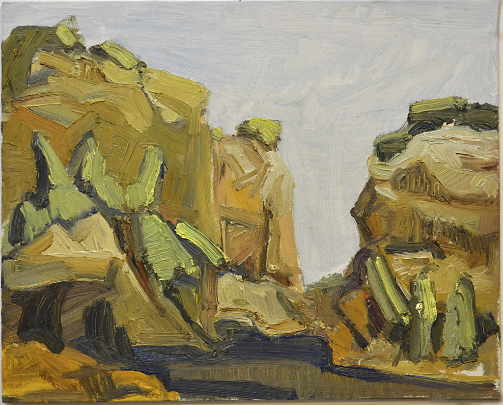 On-site oil sketch #1, 8 x 10 inches.