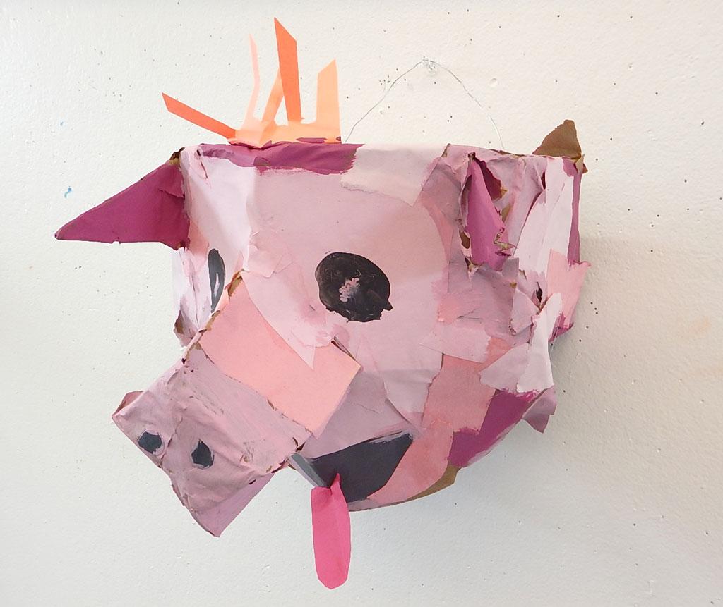 Pig: construction paper & cardboard