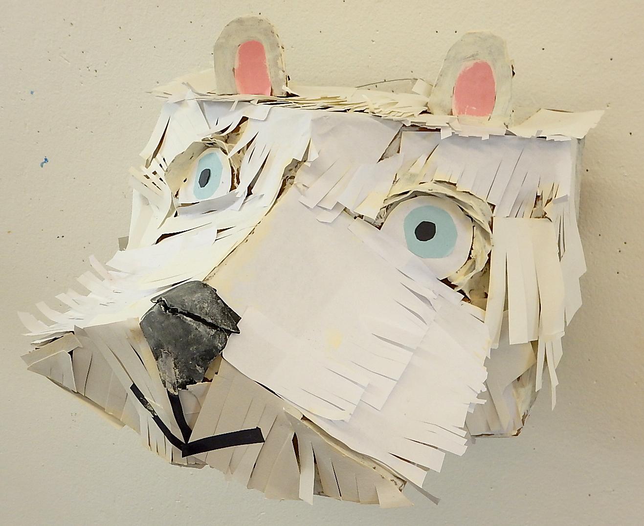 Polar Bear: construction paper & cardboard